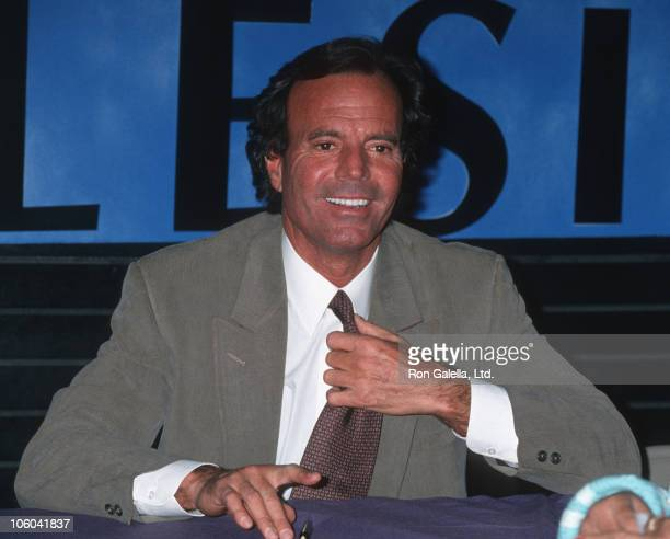 Julio Iglesias during Julio Iglesias Autographs New CD 'Crazy' May 18 1994 at Coconuts Record Store in New York City New York United States