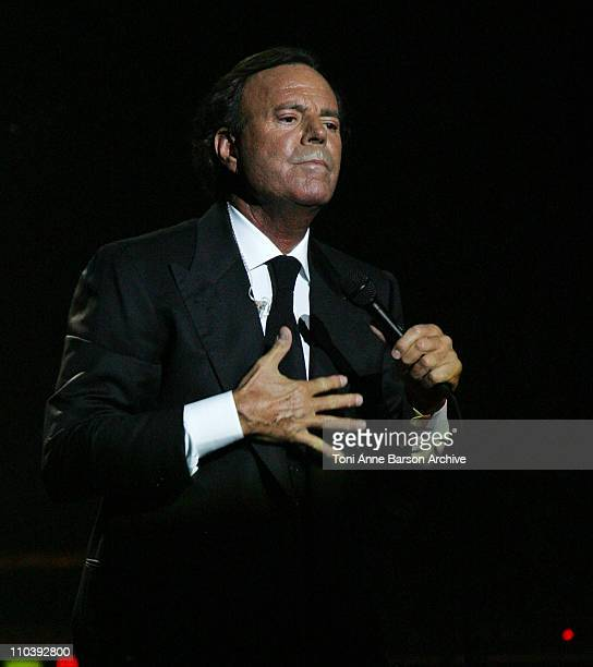 Julio Iglesias during Julio Iglesias in Concert at Nikaia in Nice June 24 2005 at Nikaia in Nice France