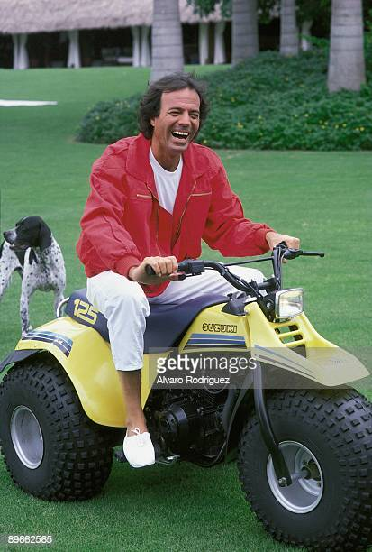 Julio Iglesias in his house in Miami The singer mounted in a quad