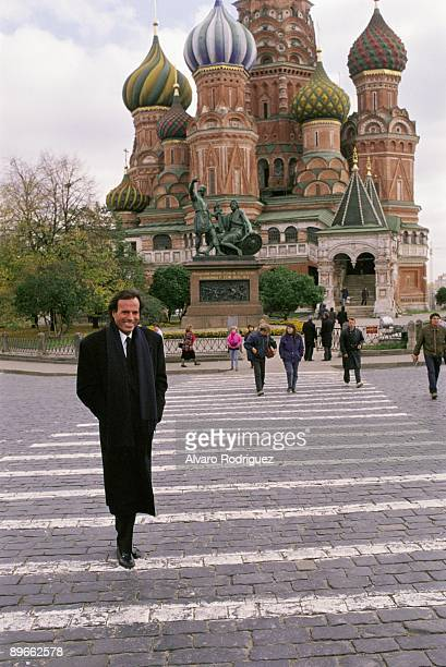 Julio Iglesias in Moscow The singer in the Red Square