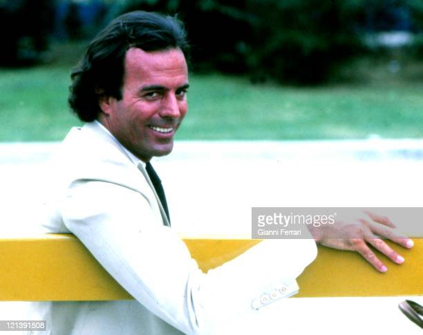 Julio Iglesias in the Amusement Park 1st April 1981 Madrid Spain