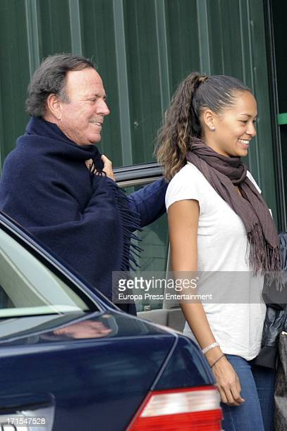 Julio Iglesias is seen at Malaga airport leving to Barcelona on his private plane on June 25 2013 in Malaga Spain