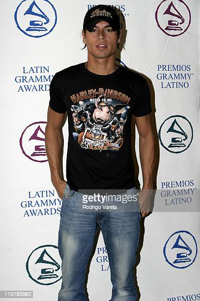 Julio Iglesias Jr during The 4th Latin GRAMMY Nominee Press Conference Green Room at The Mandarin Oriental Hotel in Miami Florida United States