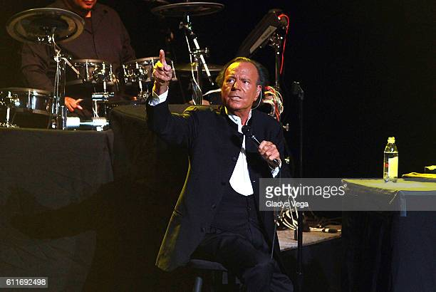 Julio Iglesias performs at Centro de Bellas Artes on September 30 2016 in San Juan Puerto Rico