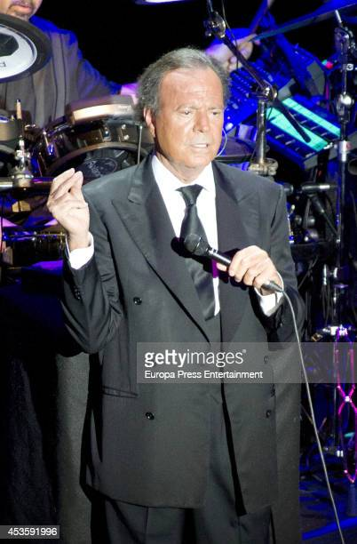 Julio Iglesias performs in concert during Starlite Festival 2014 on August 13 2014 in Marbella Spain