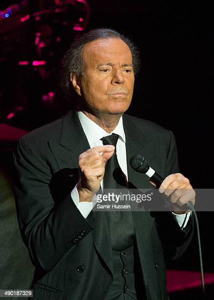 Julio Iglesias performs live on stage at the Royal Albert Hall on May 13 2014 in London England