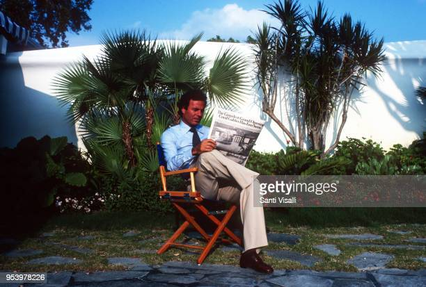 Julio Iglesias posing for a photo on June 5 1980 in Miami Florida