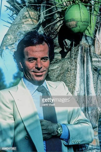 Julio Iglesias posing for a photo with Rolex watch on June 10 1980 in Miami Florida