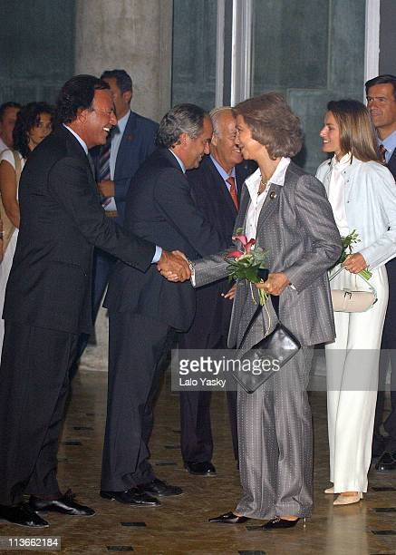Julio Iglesias Queen Sofia and Princess Letizia during Spanish Royals Attend 'Me Olvide de Vivir' Gala in Favor of the Queen Sofia Foundation at...