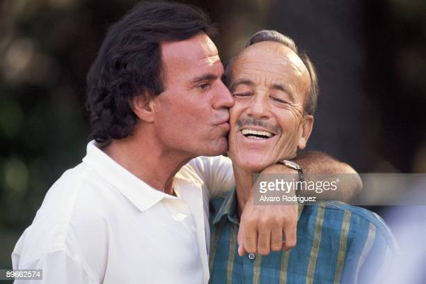 Julio Iglesias with his father Julio Iglesias Puga
