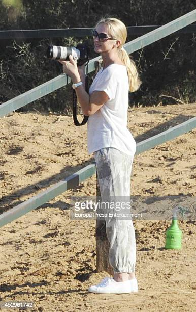 Julio Iglesias's wife Miranda Rijnsburger is seen on July 5 2014 in Marbella Spain