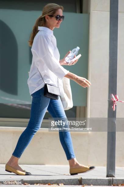 Julio Iglesias's wife Miranda Rijnsburger is seen on June 19 2018 in Marbella Spain