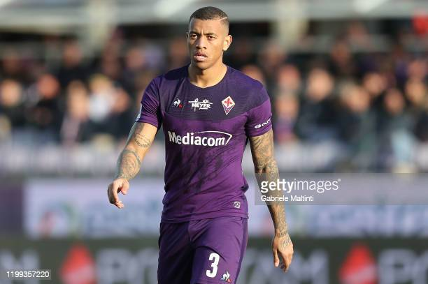 Julio Igor of ACF Fiorentina in action during the Serie A match between ACF Fiorentina and Atalanta BC at Stadio Artemio Franchi on February 8, 2020...