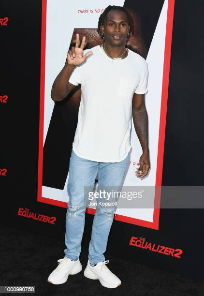Julio Jones attends premiere of Columbia Picture's 'Equalizer 2' at TCL Chinese Theatre on July 17 2018 in Hollywood California