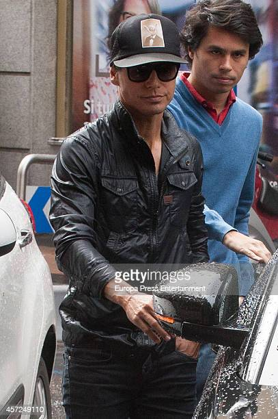 Julio Jose Iglesias and his cousin Alvaro Castillejo Preysler are seen on October 9 2014 in Madrid Spain