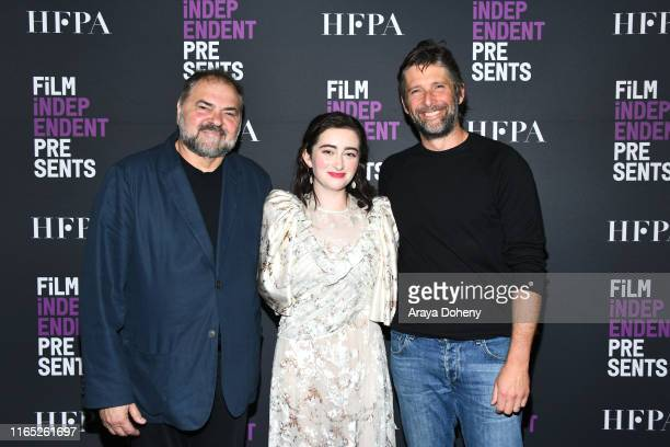 """Julio Macat, Abby Quinn and Bart Freundlich at Film Independent presents """"After The Wedding"""" at The Landmark on July 30, 2019 in Los Angeles,..."""
