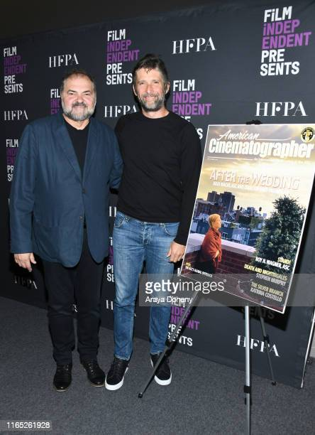 """Julio Macat and Bart Freundlich at Film Independent presents """"After The Wedding"""" at The Landmark on July 30, 2019 in Los Angeles, California."""