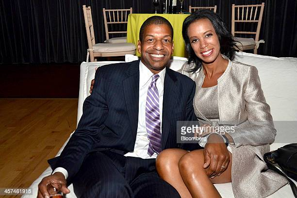 Julio Peterson director of real estate corporate relations at Shubert Organization left and Michelle FizerPeterson board member of Harlem School of...