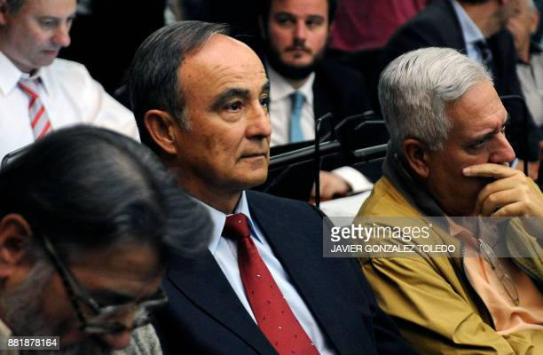 Julio Poch an ArgentineDutch national and a former Argentine naval aviator extradited from Spain in May 2010 attends a trial as defendant in Buenos...