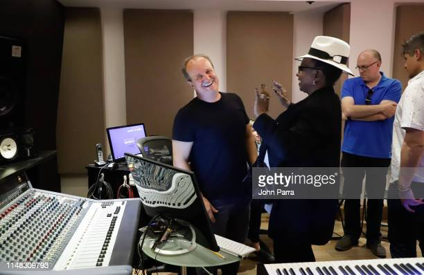 Julio Reyes Copello and Betty Wright are seen at the In The Mix Vocal Prod Software Demo at Art House Studio on June 5 2019 in Miami Florida