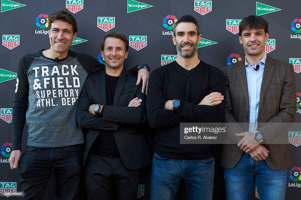 Morientes And Mendieta Attend TAG Heuer Event in Madrid