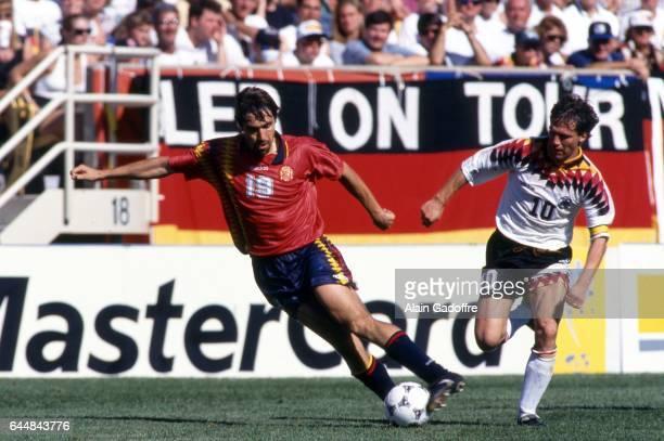 Julio Salinas / Lothar Matthaus Allemagne / Espagne Coupe du Monde 1994 Photo Alain Gadoffre / Icon Sport