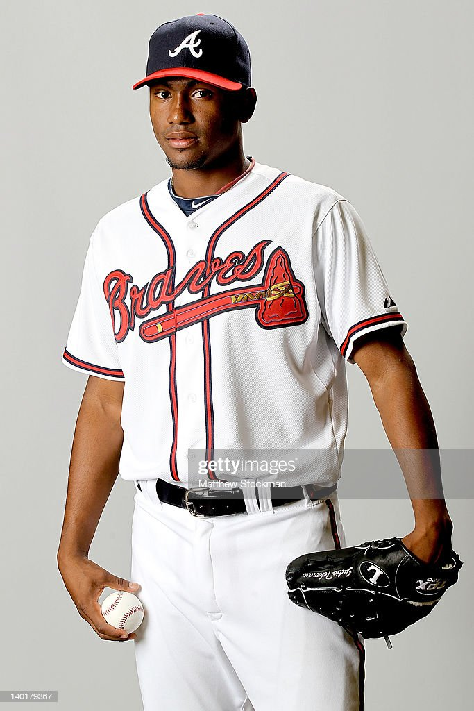Julio Teheran of the Atlanta Braves poses for a portrait during photo day at Champion Stadium on February 29, 2012 in Lake Buena Vista, Florida.