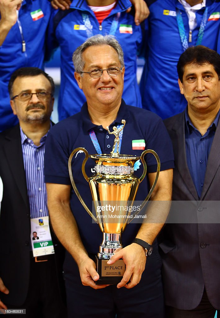 Julio Velasco coach of iran during 17th Asian Men's Volleyball Championship between Iran And Japan on October 5, 2013 in Dubai, United Arab Emirates.