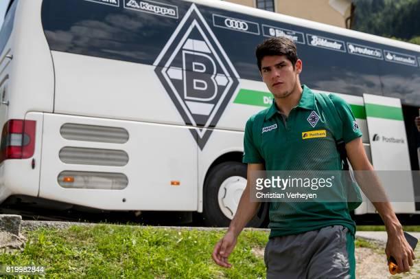 Julio Villalba of Borussia Moenchengladbach ahead of a friendly match between Borussia Moenchengladbach and Leeds United at Silberstadt Arena on July...