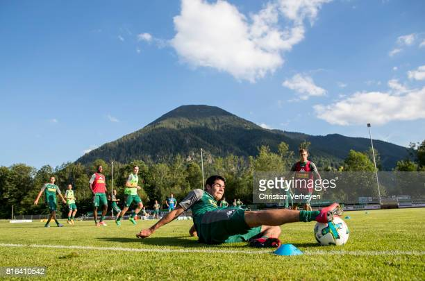 Julio Villalba of Borussia Moenchengladbach during a training session at the Training Camp of Borussia Moenchengladbach on July 17 2017 in...