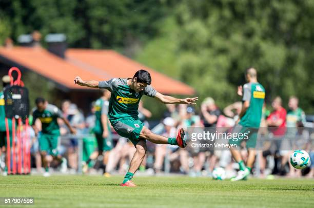 Julio Villalba of Borussia Moenchengladbach during a training session at the Training Camp of Borussia Moenchengladbach on July 18 2017 in...