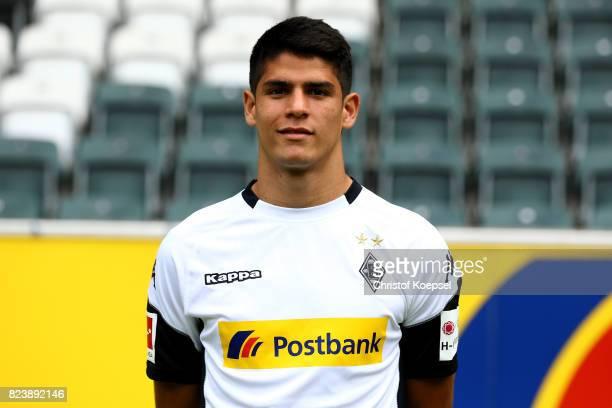 Julio Villalba of Borussia Moenchengladbach poses during the team presentation at Borussia Park on July 28 2017 in Moenchengladbach Germany