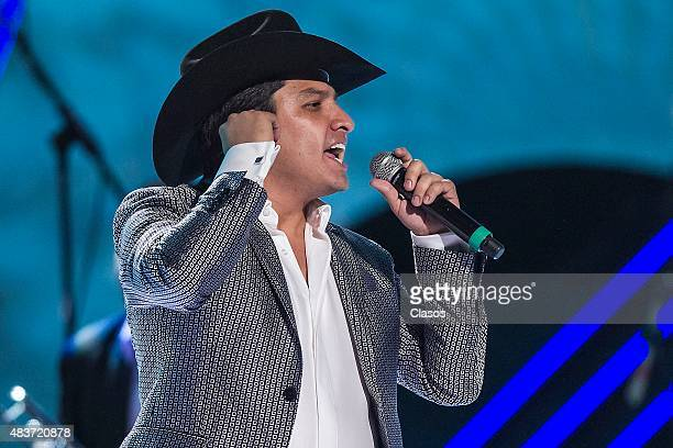 Julion Alvarez performs during the Bandamax Awards 2015 at Palacio de los Deportes on August 11, 2015 in Mexico City, Mexico.