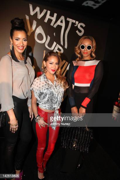 Julissa Bermudez Adrienne Bailon and Keri Hilson attend Hennessy presents The Chase at the Highline Stages on April 5 2012 in New York City