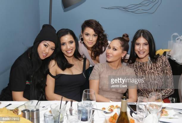 Julissa Bermudez Anabelle Acosta Adrienne Bailon and Annie Mercado attend Actress Anabelle Acosta 30th Birthday Party at The Esterel Restuarant on...