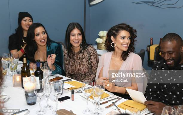 Julissa Bermudez Anabelle Acosta and Annie Mercado attend Actress Anabelle Acosta 30th Birthday Party at The Esterel Restuarant on February 28 2017...