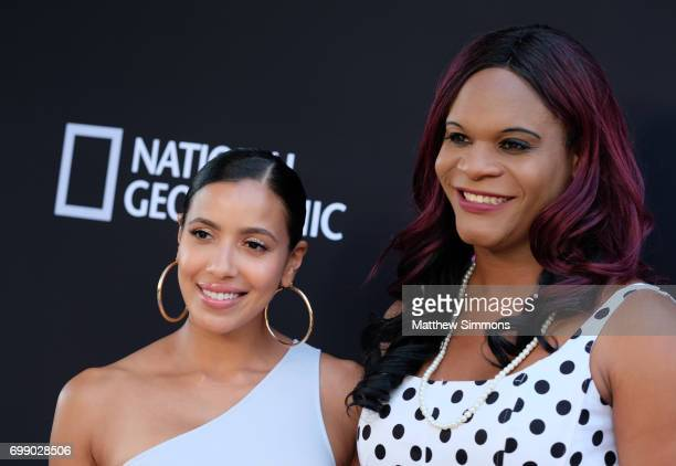 Julissa Bermudez and Blossom C Brown attend Trans Talk A Conversation About Identity at NeueHouse Hollywood on June 20 2017 in Los Angeles California