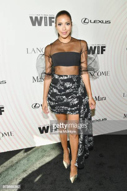 Julissa Bermudez attends the Women In Film 2018 Crystal Lucy Awards presented by Max Mara Lancôme and Lexus at The Beverly Hilton Hotel on June 13...