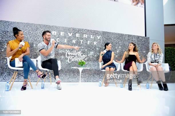 Julissa Bermudez Daniel Musto Stephanie Shepherd Hannah Lux Davis and Ilaria Urbinati speak onstage at Beverly Center's Grand Reveal Weekend Everyone...