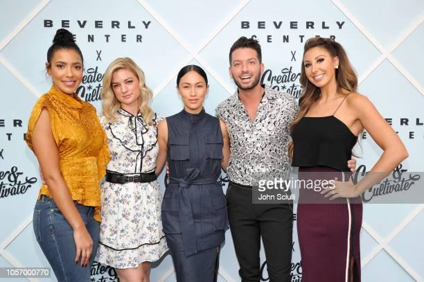 Julissa Bermudez Ilaria Urbinati Stephanie Shepherd Daniel Musto and Hannah Lux Davis arrive at Beverly Center's Grand Reveal Weekend Everyone...