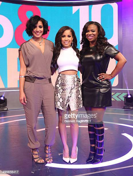 Julissa Bermudez Keshia Chante and Kandi Burruss attend 106 Park at BET studio on June 4 2014 in New York City