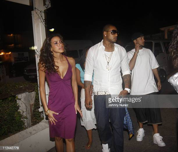 Julissa Bermudez Larry Johnson and Guest sighting in Barbados April 28 2008 St Peter Barbados