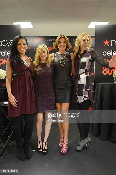 Julissa Bermudez Luciama Scarabello Countess LuAnn De Lesseps and Niki Taylor attend Fashion's Night Out Celebration at Macy's Aventura on September...