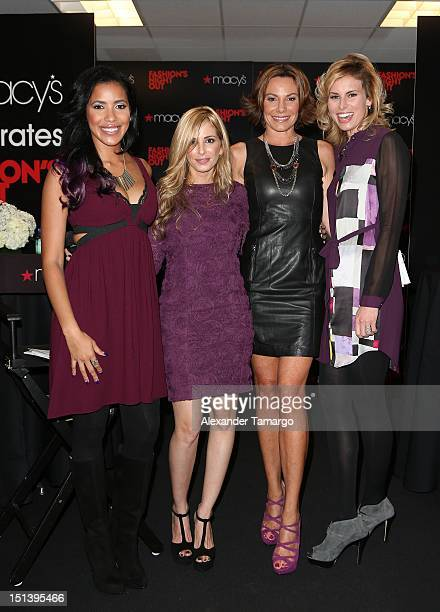Julissa Bermudez Luciana Scarabello Countess LuAnn de Lesseps and Niki Taylor attend Fashion's Night Out Celebration at Macy's Aventura on September...
