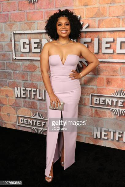 Julissa Calderon attends the premiere of Netflix's Gentefied at Plaza de la Raza on February 20 2020 in Los Angeles California