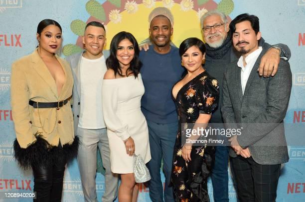 Julissa Calderon JJ Soria Karrie Martin Charles D King Annie Gonzalez Joaquín Cosío and Carlos Santos attend as Netflix Celebrates The Premiere Of...
