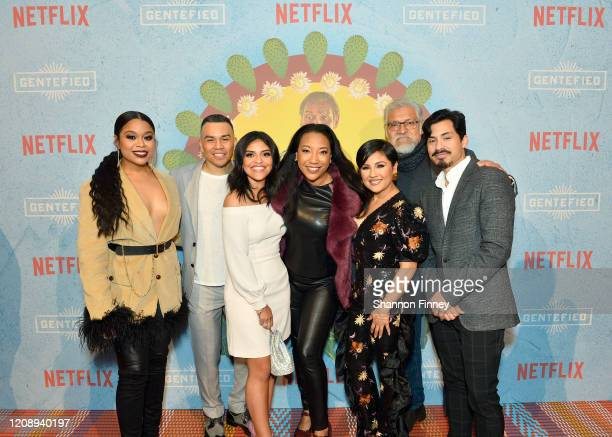 Julissa Calderon JJ Soria Karrie Martin Monica Macer Annie Gonzalez Joaquín Cosío and Carlos Santos attend as Netflix Celebrates The Premiere Of...