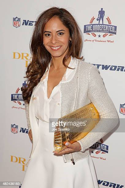 Julissa McBride arrives at the charity screening of Draft Day at Big Newport Theater on April 3 2014 in Newport Beach California