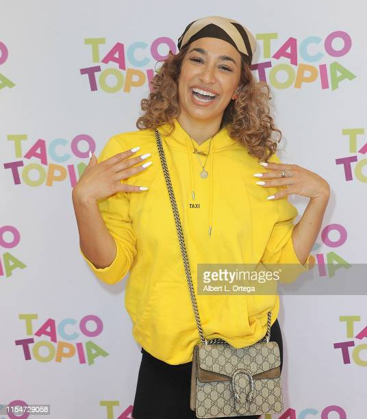 Julissa Prado attends #TacoBoutViral Event held at Tacotopia on July 8 2019 in Santa Monica California