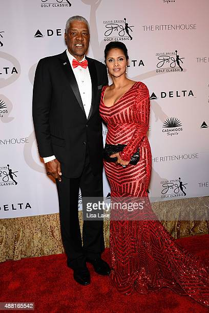 Julius and Dorys Erving attend The Julius Erving Black Tie Ball Event at The Rittenhouse Hotel on September 13 2015 in Philadelphia Pennsylvania